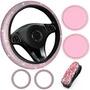 6pcs Kit Acessórios De Carro Feminino Rosa Top Lançamento