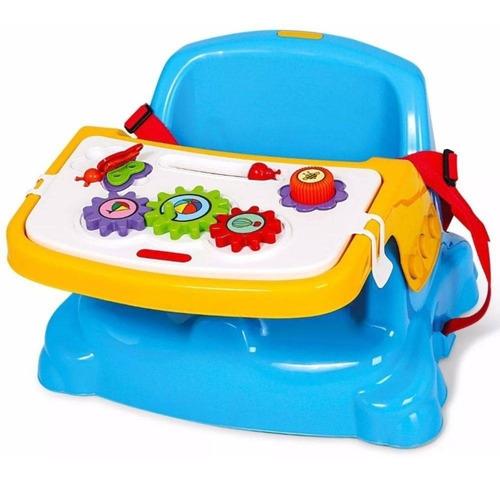 Cadeira Cadeirinha Alimentação Bebê  Portátil Didática Azul