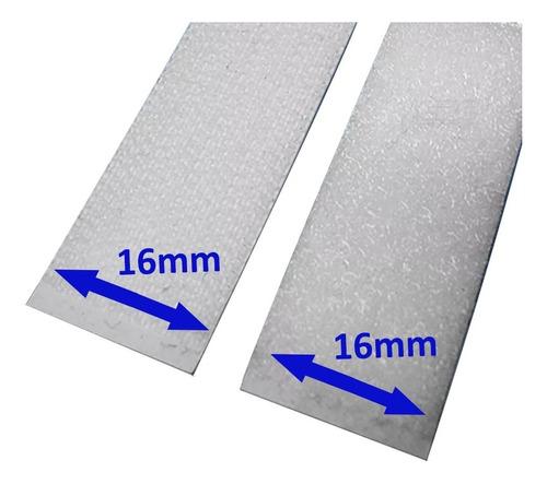 Fita Auto Adesiva Velcro M+f Fixação De Pedais 16mm 1 Metro