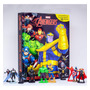 Promoção Brinquedo Livro Vingadores Com Miniaturas Meninos
