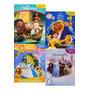 Kit Com 4 Miniaturas: Moana, Frozen 2, Clássicos, Bela Fera