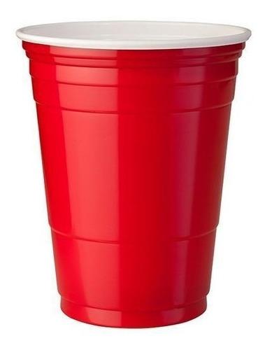 Copo Americano Beer Pong Red Cup 50un Vermelho Azul Preto