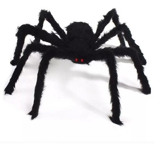 Arañas Gigante Negra Halloween 75cm Profesional Decorativa