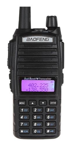 Rádio Comunicador 5w Bf Vhf /uhf/ Fm Dual Band Uv-82