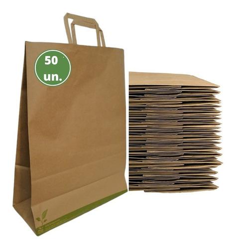 Bolsas De Papel Kraft Con Manilla Pequeñas 50 Unidades