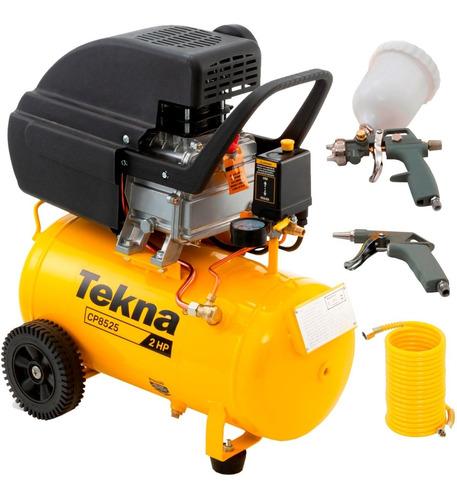 Compressor Ar Motocompressor Cp8525 24lt 2 Hp Tekna Com Kit