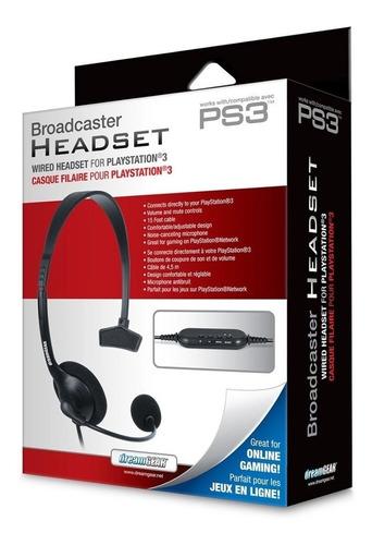 Fone E Microfone Headset Broadcaster Para Ps3 Da Dream Gear