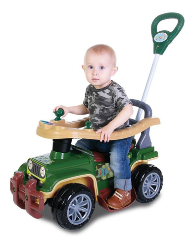 Carrinho Infantil Passeio Empurrador Jip Jip Militar Maral