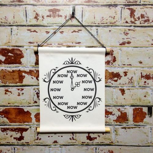 Flâmula Decorativa  Relógio Now