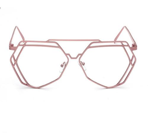 Espelho Plano Metal Quadrado Miopia Quadro Óculos Armação Re
