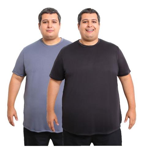 Kit 2 Camisa Plus Size Camiseta Dry Fit Corrida Academia
