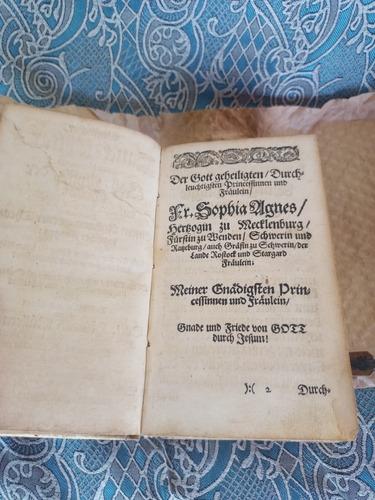 Livro Antigo Raro Alemão 1670