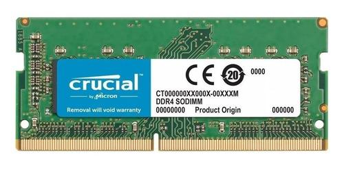 Memória Ram Color Verde  8gb 1x8gb Crucial Ct102464bf160b
