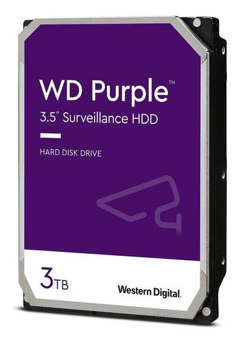 Disco Rígido Interno Western Digital Wd Purple Wd30purz 3tb Roxo