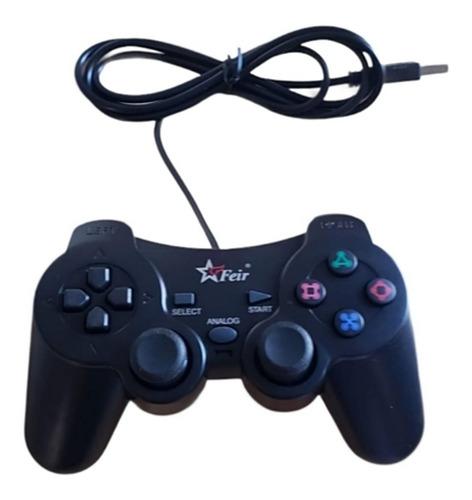 Controle Usb Analógico 4 Em 1 Para Pc Ps3 Play 3 Raspberry
