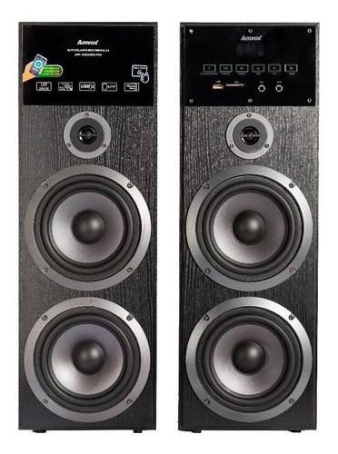 Caixa Bluetooth Amplificada Amvox Aca 480 Torre 480w