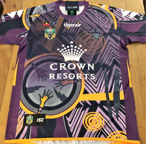 Camisa Melbourne Storm Rugby Numerada Oficial