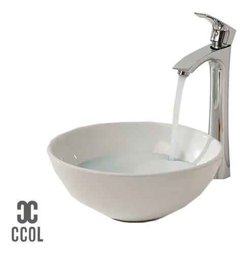 Lavamanos Sobreponer Redondo Blanco 16cm*33cm