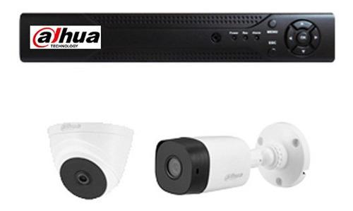 Kit Dvr 4 Canales + 2 Camaras 1080p 2mp + Accesorios - Dahua