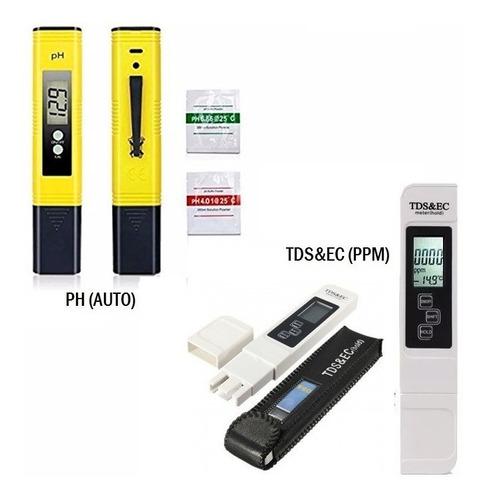 Medidor Tds-ec + Medidor De Ph Automatico Combo6