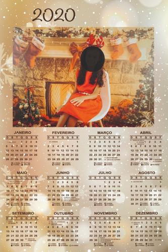 Calendário De Parede Lembrancinha Personalizado - 15-unid.