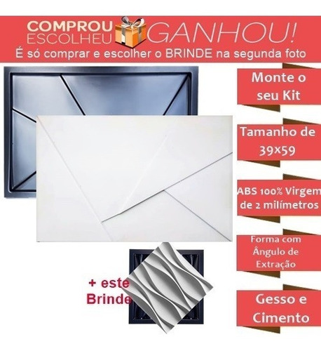 Forma Pra Gesso 3d Cimento Abs 2mm Napoli 40x60 + 1 Brinde