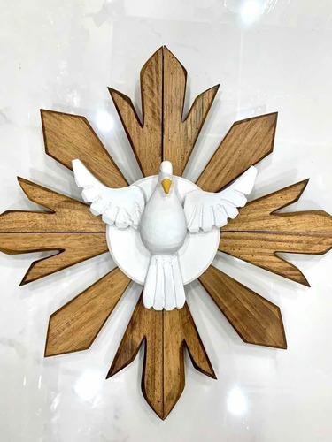 Imagem Mandala Divino Espírito Santo Parede Madeira Lindo!
