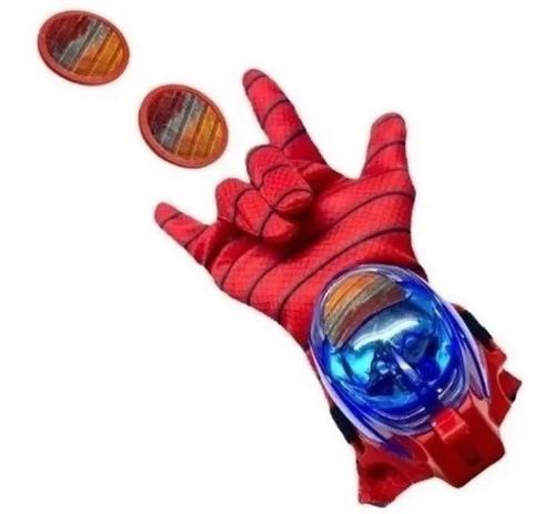 Luva Lança Discos Homem Aranha C/luz E Som Vingadores Heróis