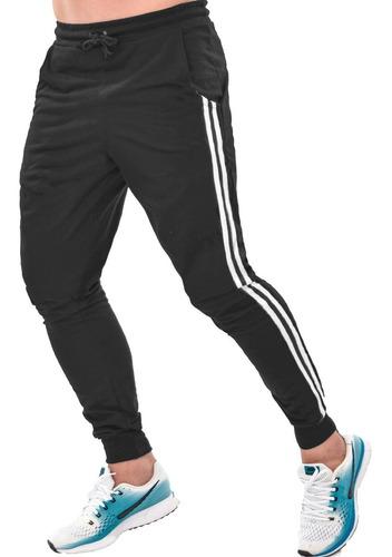 Kit 3 Calça Moletom Masculina Skinny Jogger Moletinho Treino