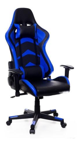 Cadeira Gamer Prizi Kombat Azul Jx-1001b