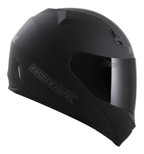 Capacete Para Moto  Integral Norisk  Ff391 Stunt  Matt Black Monocolor Tamanho 56