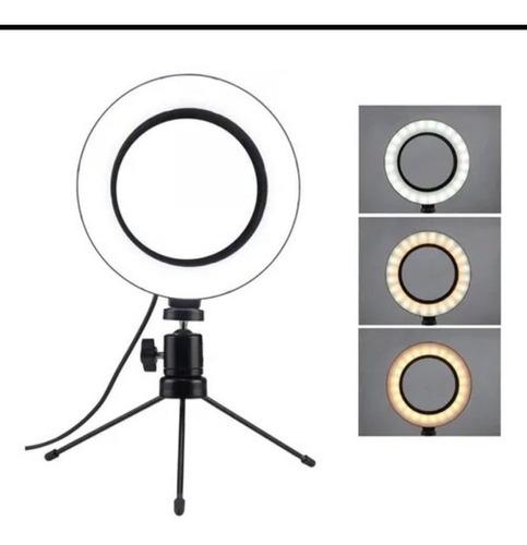 Iluminador Ring Light 6 Pelegadas 16 Cm Tripé Brinde