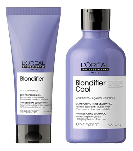 Pack Blondifier Shampoo Cool Matizador 300ml Y Acond 200