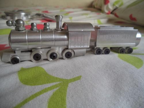 Miniatura Locomotiva Maria Fumaça = Feito No Cnc Artesanal