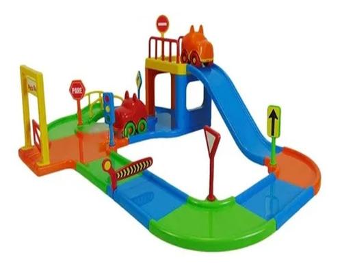 Pista De Carrinho Infantil Bebê Brinquedo Educativo Corrida