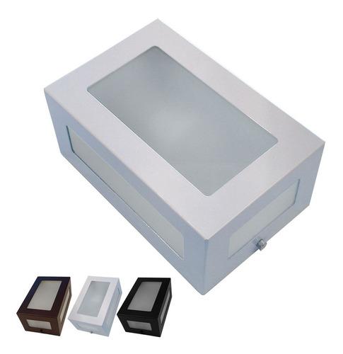 Arandela 5 Vidros Externa Alumínio Vidro Retangular St569