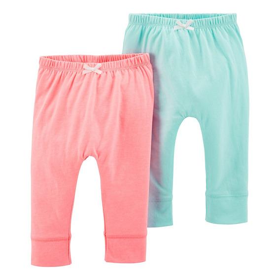 Carters Pack 2 Pantalones Babucha Bebe Nenas Set
