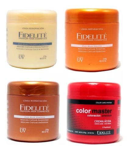 Combo Fidelite 4 Potes De 1 Kg C/u De Mascaras Capilar
