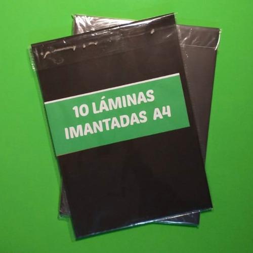 Pack 10 Lámina Imantada 0,3mm Tamaño A4