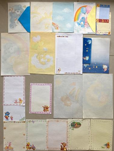 Papel Carta Ursinhos Carinhosos Anos 80 Lote Coleção Antigo
