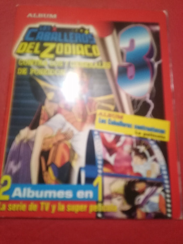 Album  Los Caballeros Del Zodiaco 3 Incompleto Faltan 3
