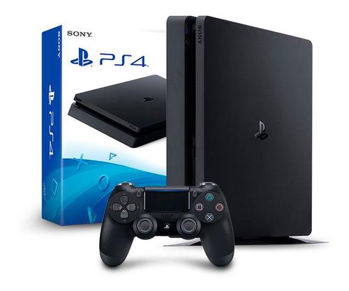 Ps4 Slim Playstation 4 500gb + 1 Controle Dualshock Na Caixa