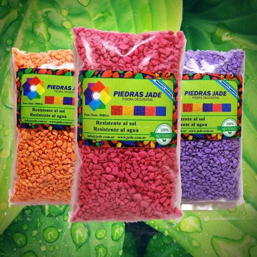Piedritas Decorativas Piedras Colores Cactus Suculentas X10
