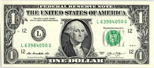 Hermoso Billete Original 1 Dolar Estados Unidos Unc+regalo