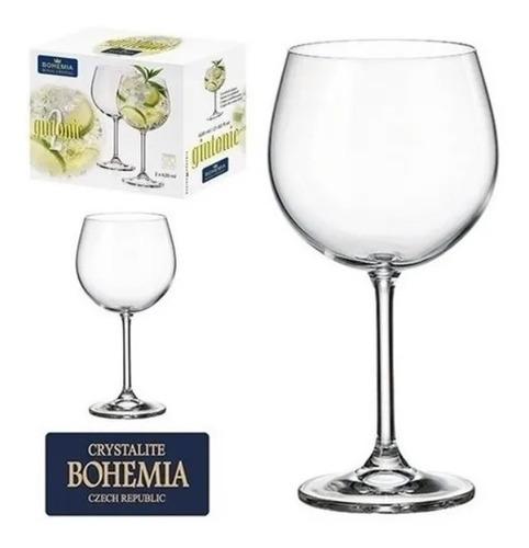 Jogo 2 Taças Cristal Gin Tônica Bohemia Crystal 600ml
