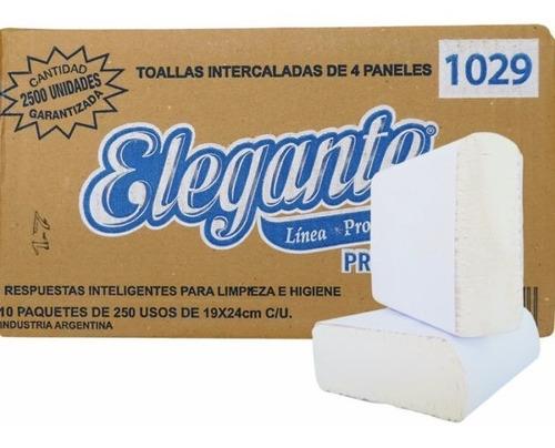 Toalla Papel Intercalada Elegante Blanca 19x24 2500 Un 1029