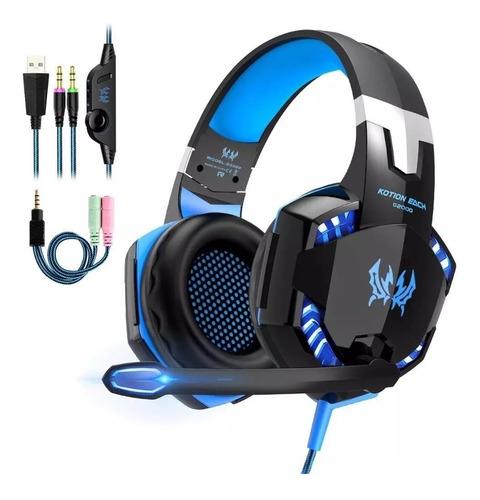 Headphones Gamer Kotion G2000 Blue Headband