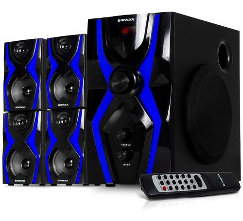 Home Theater 5.1 Sistema Som Bluetooth Mp3 Subwoofer Usb Sd