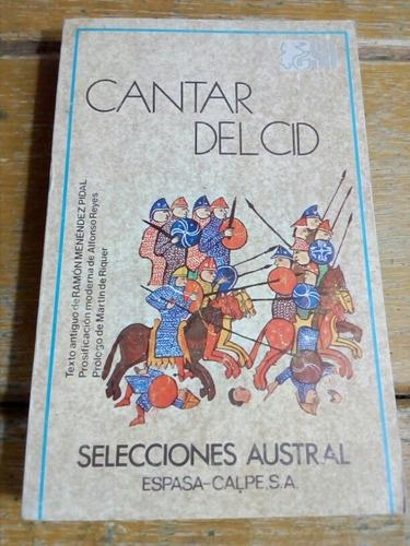 Poema Cantar Del Cid, Espasa Calpe, Madrid. 1982
