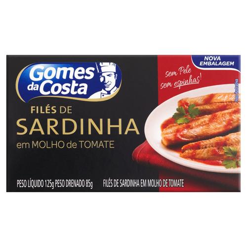 Filé De Sardinha Com Molho De Tomate Gomes Da Costa Caixa 85g